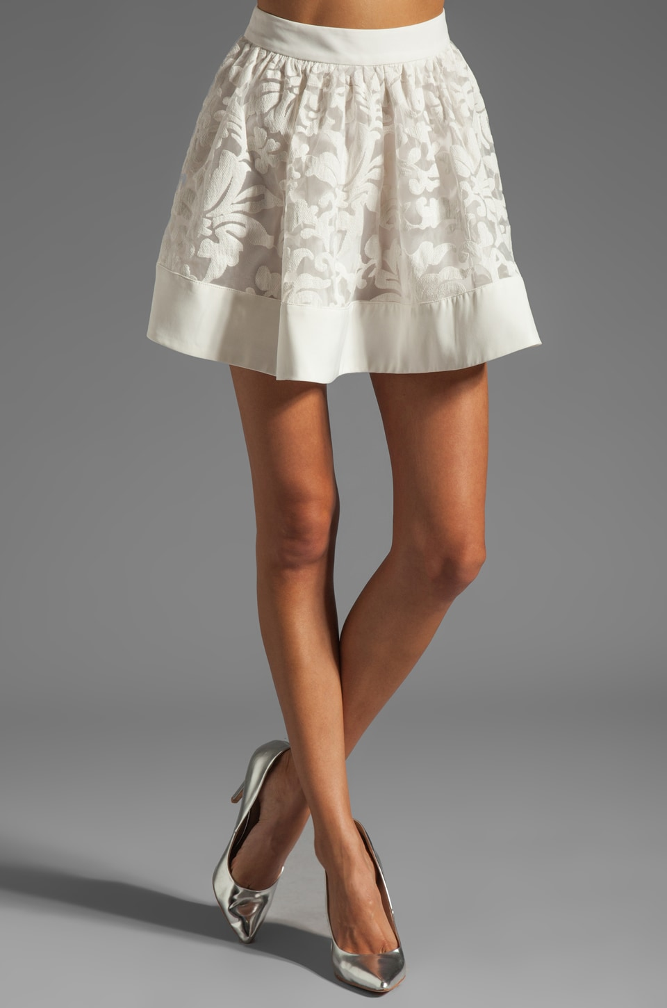 C/MEO Candy Man Skirt in White