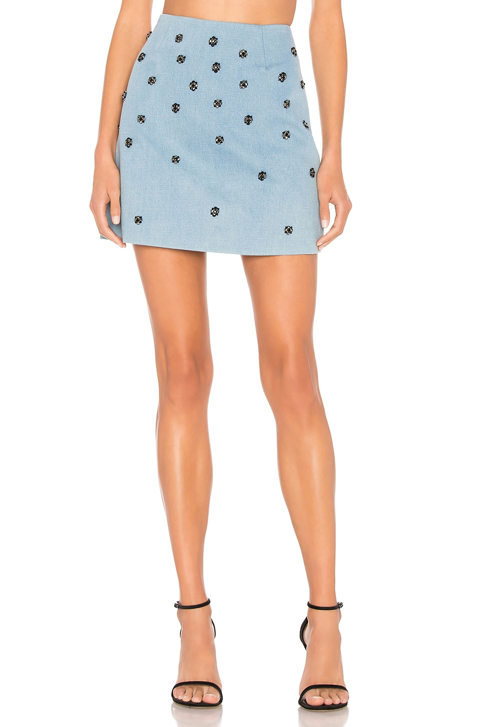C/MEO Decoy Mini Skirt in Light Blue