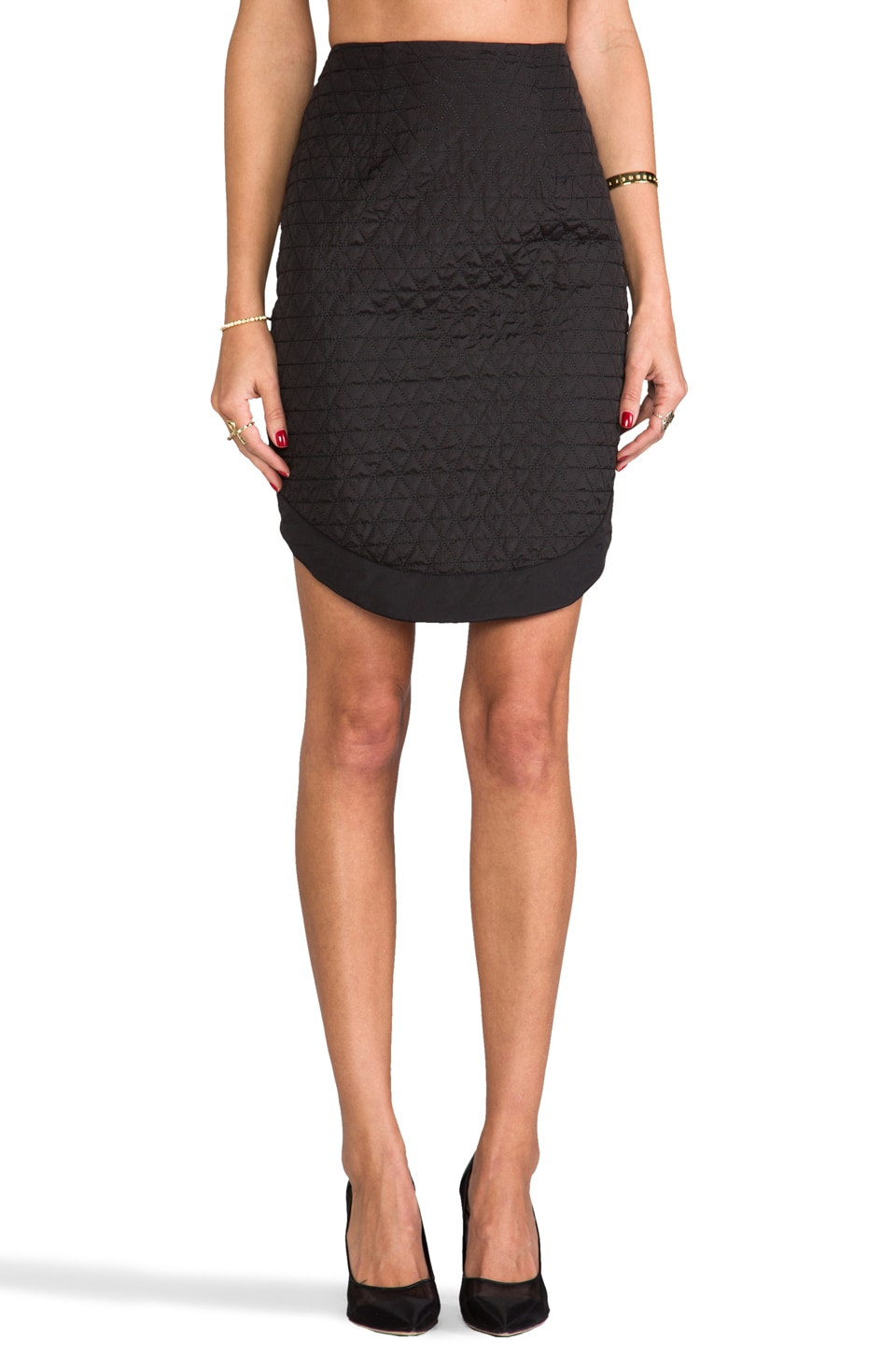 C/MEO Some Nights Skirt in Black