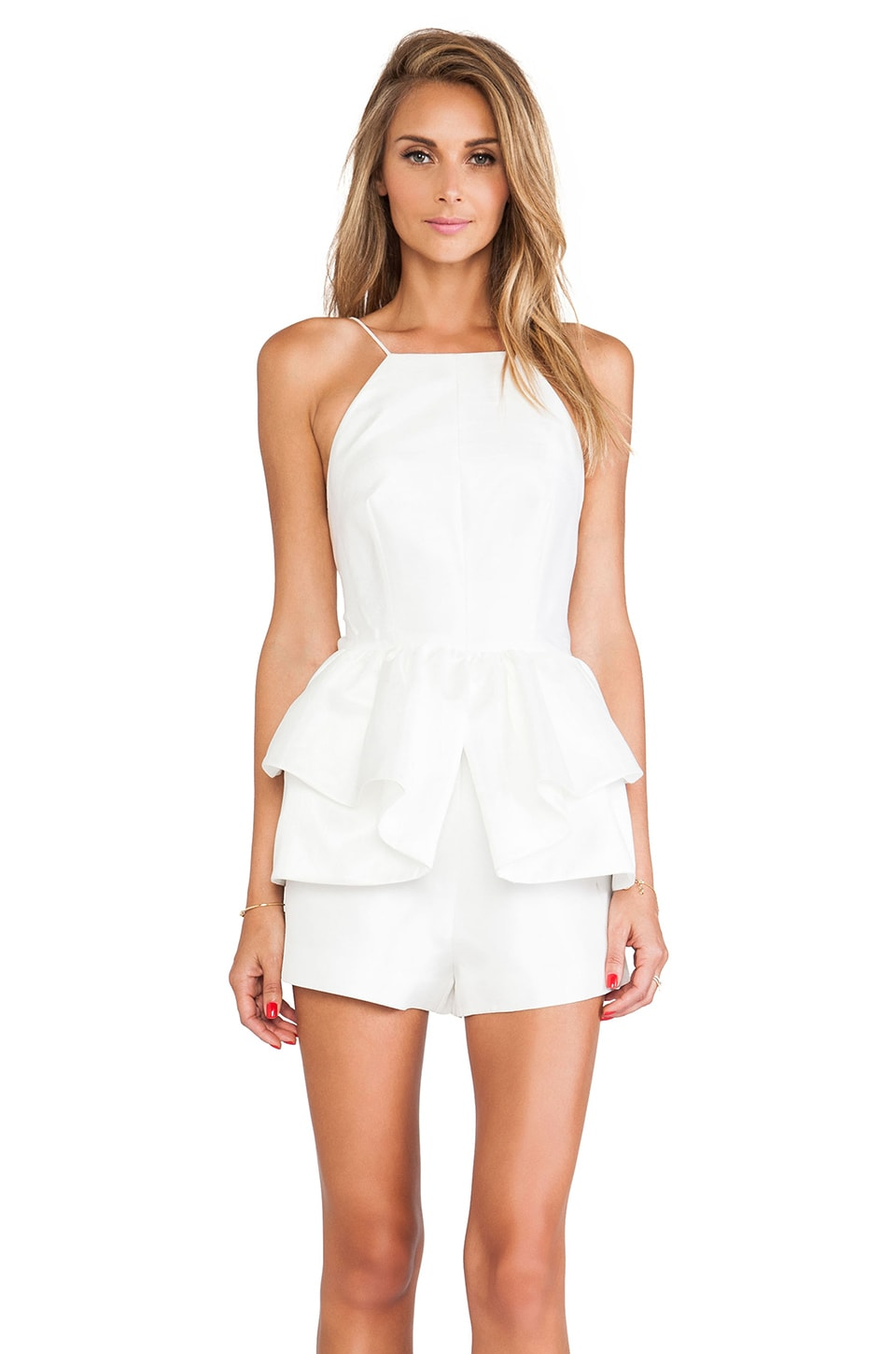 C/MEO Perfect World Romper in Ivory