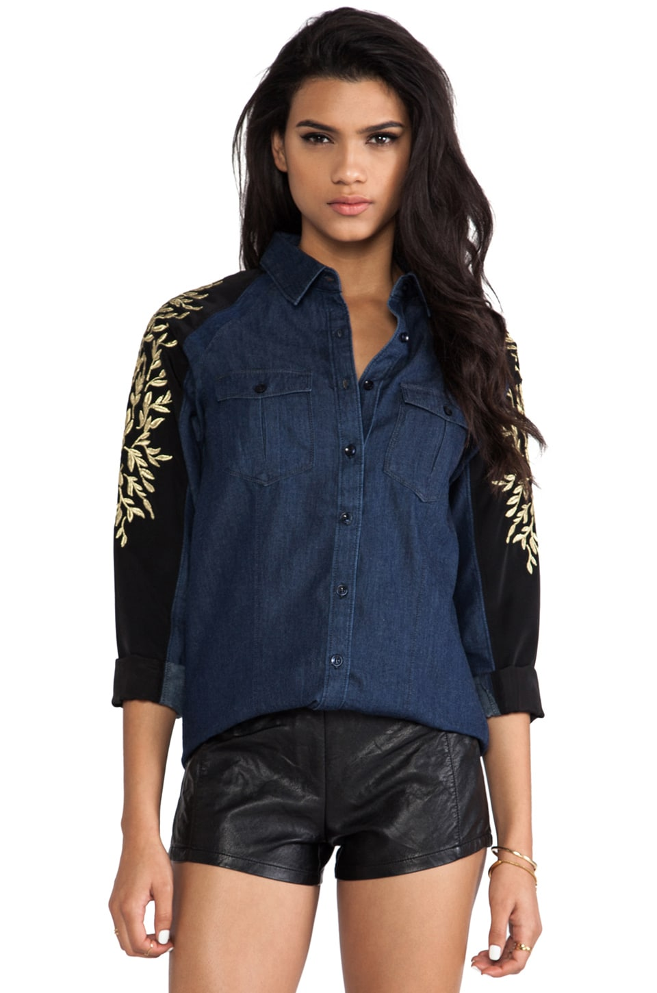 C/MEO Million Dollar Man Shirt in Denim