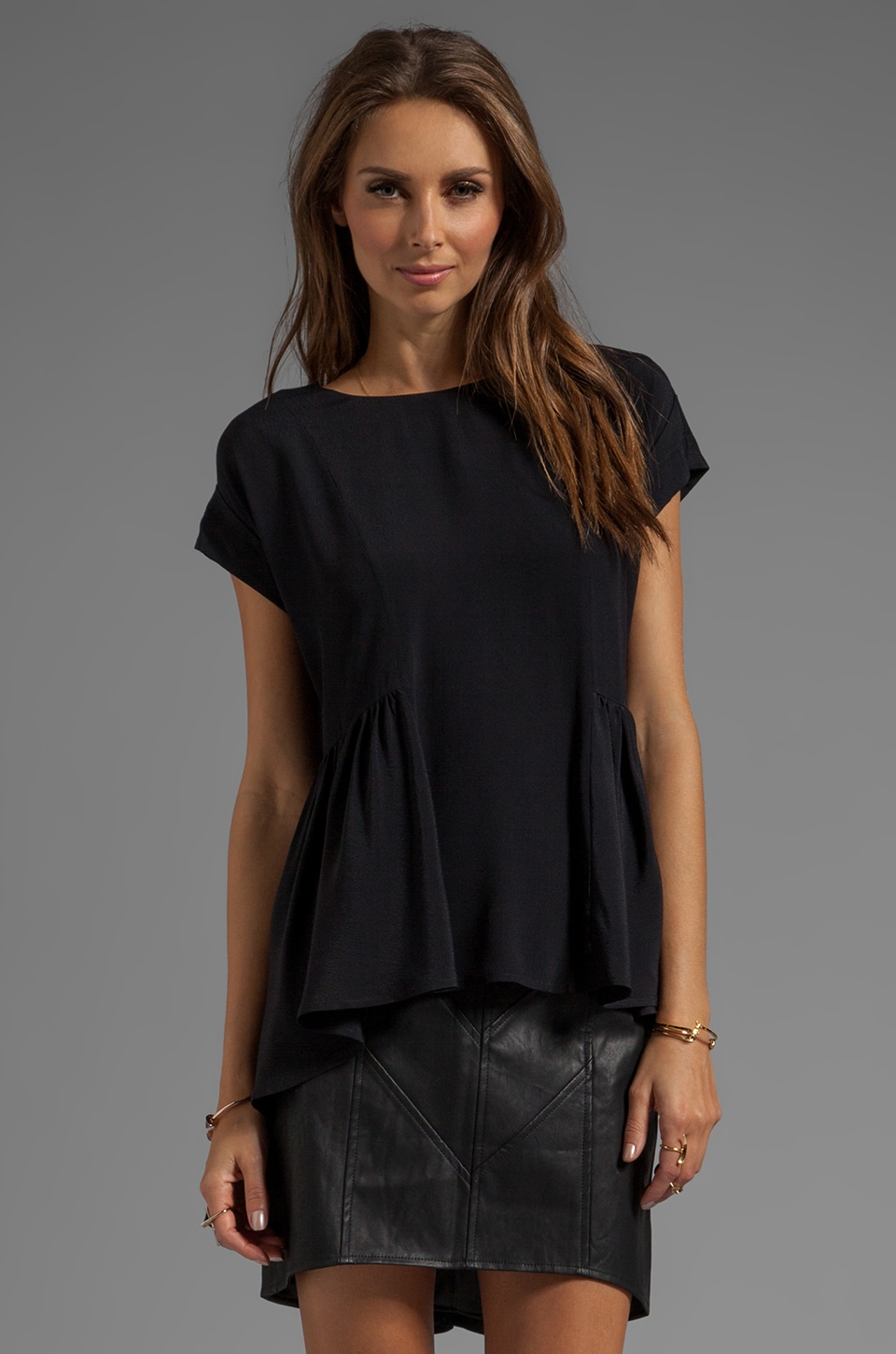 C/MEO Dandelion Top in Black
