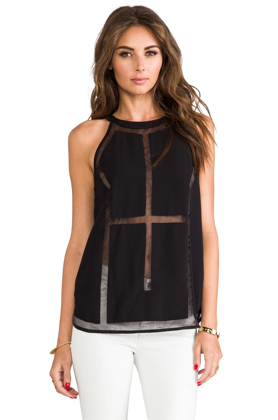 C/MEO Megalomania Top in Black