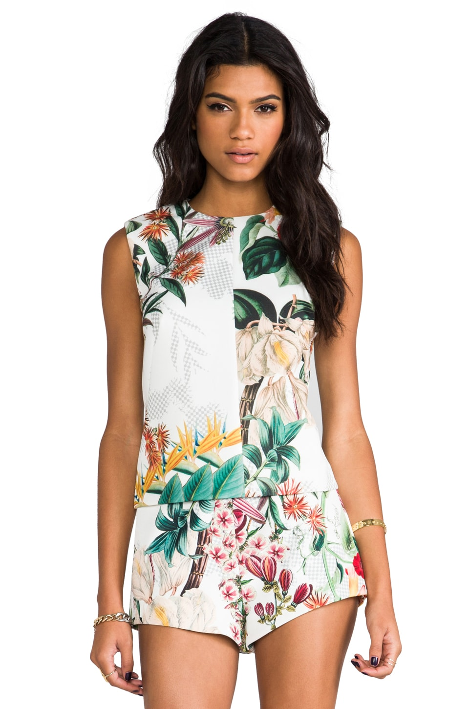C/MEO Night Fall Top in Botanical Print