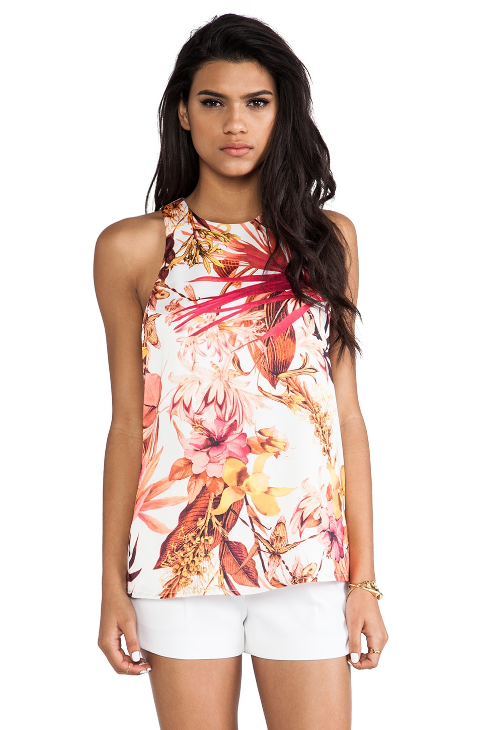C/MEO Hybrid Tank in Tropical Print