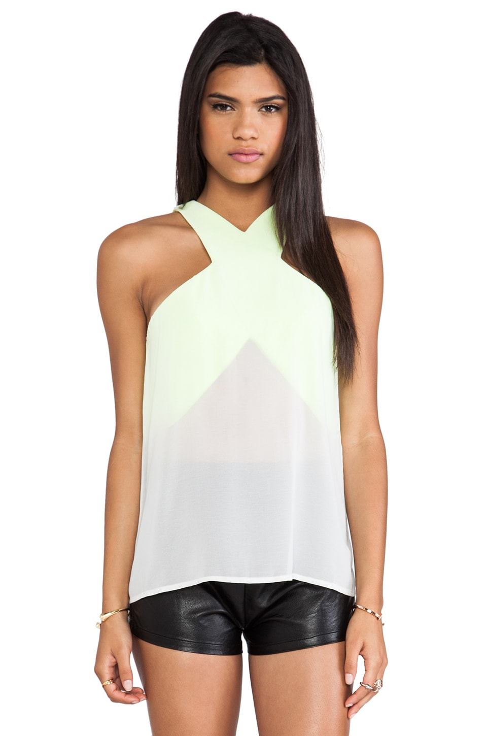 C/MEO Paper Thin Top in Chartreuse