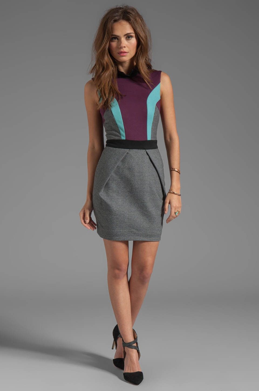 camilla and marc Statesroom Dress in Grey Marle/Maroon/Duck Egg