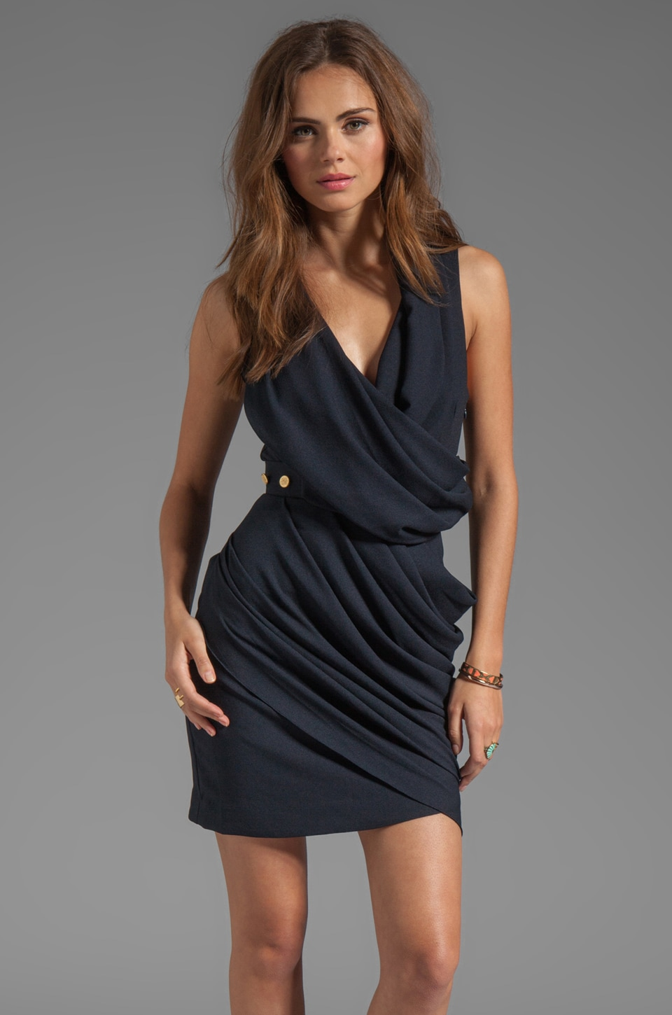 camilla and marc Vanishing Point Dress in Navy