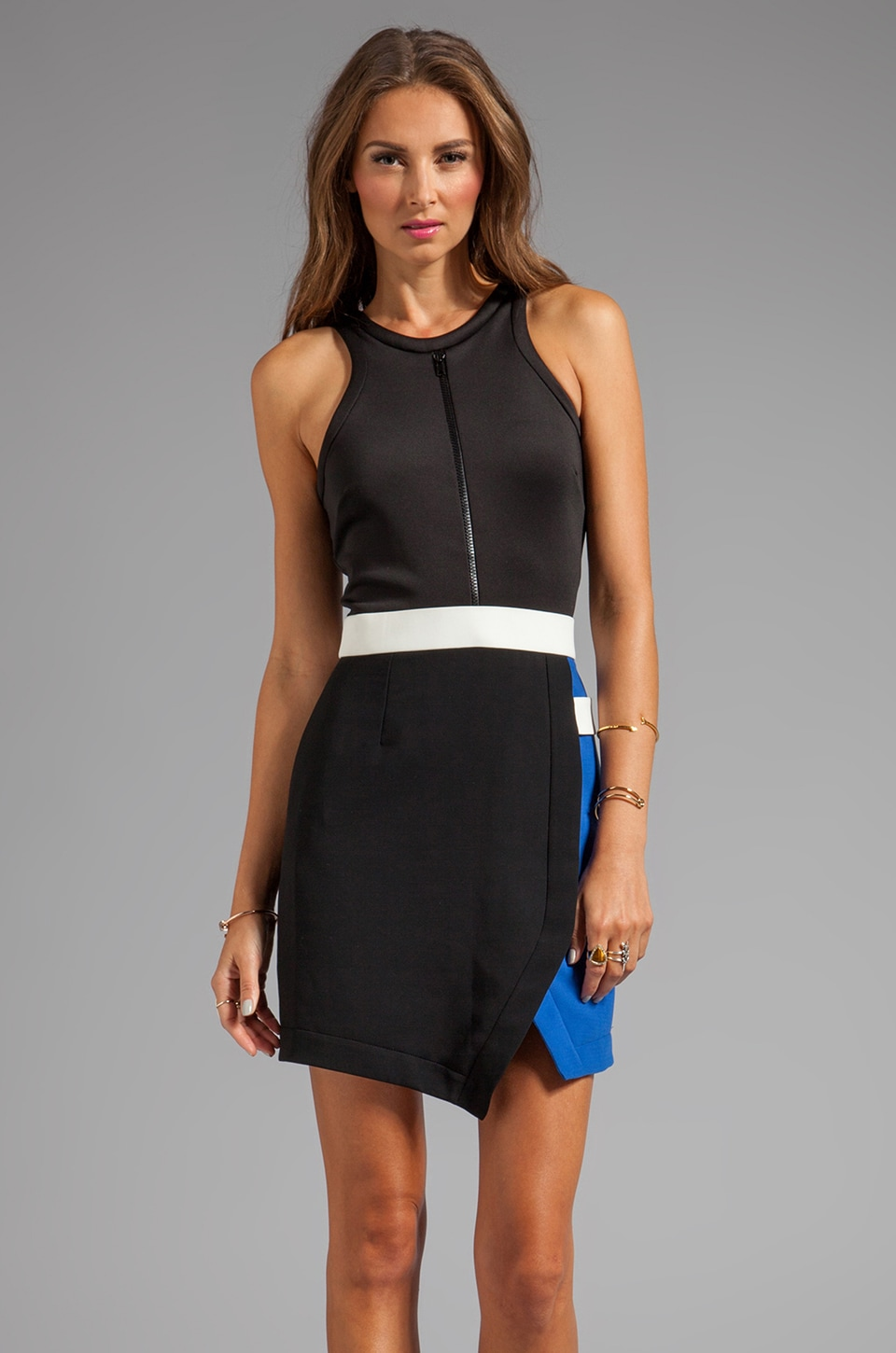 camilla and marc Iron Mystery Dress in Black/Blue/White