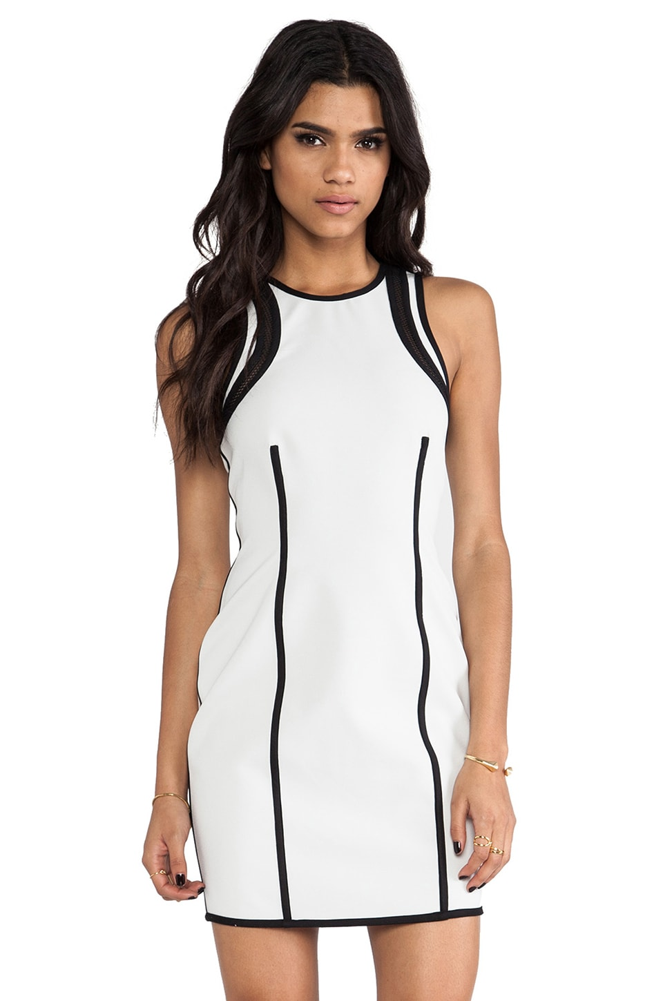 camilla and marc Reversible Recursion Dress in Black & White