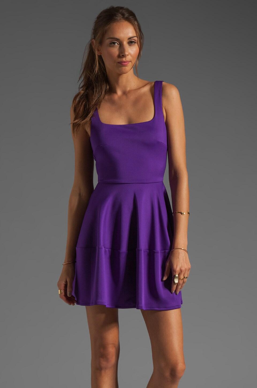 camilla and marc Pendentive Techno Scuba Dress in Violet