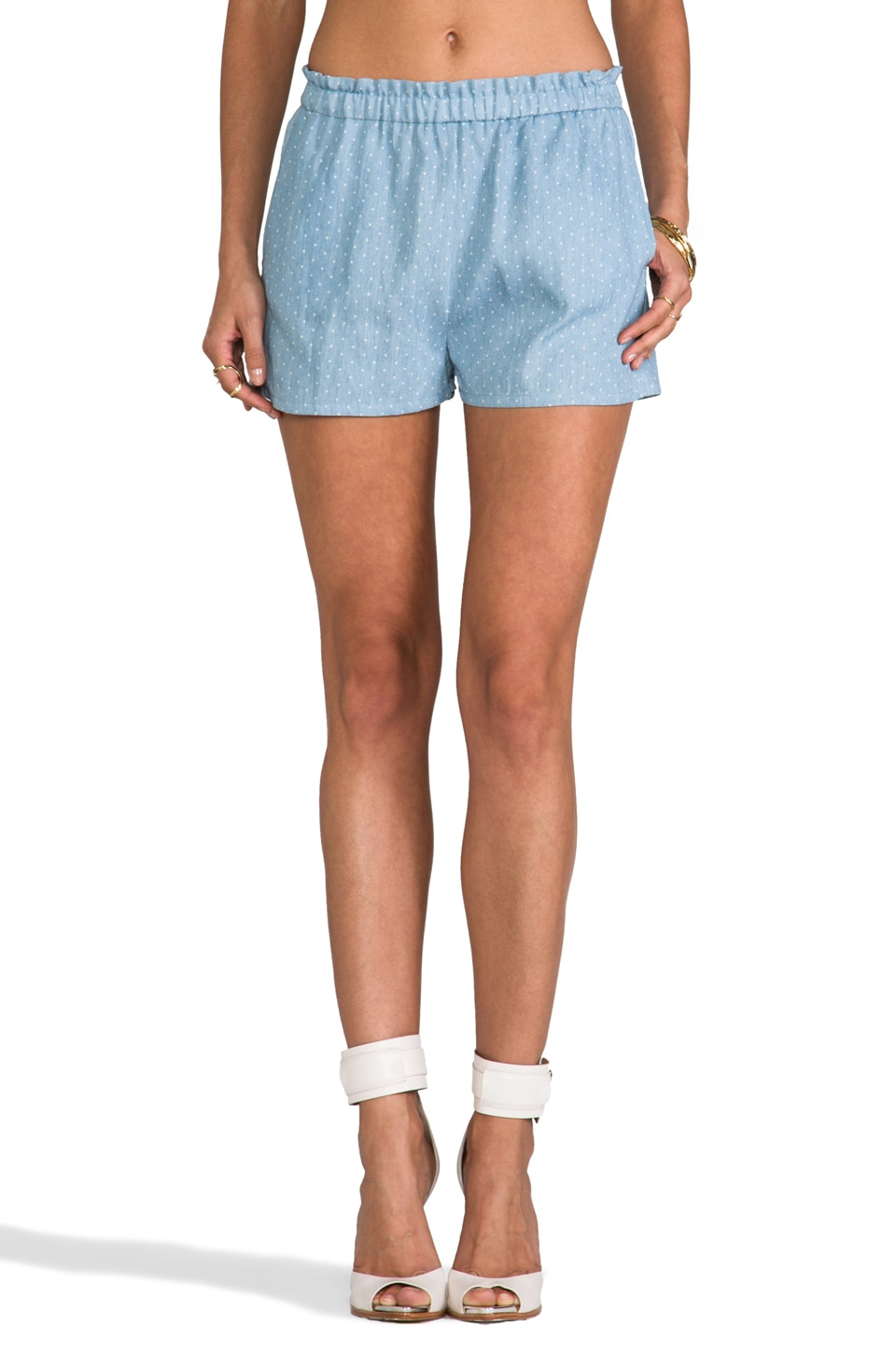 camilla and marc camilla & marc C&M Light Headed Chambray Spot Short in Blue