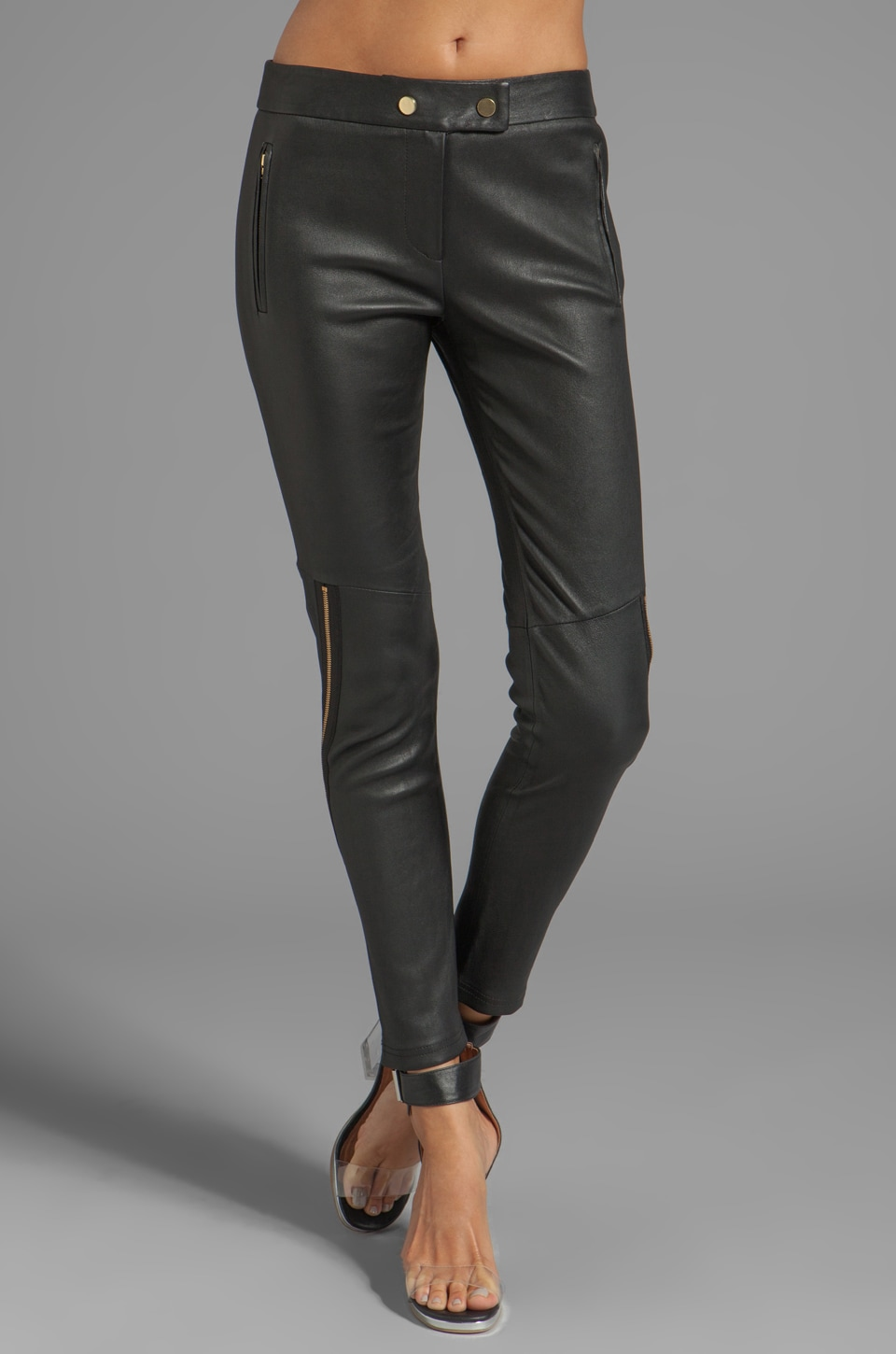 camilla and marc Modernist Leather Pant in Black