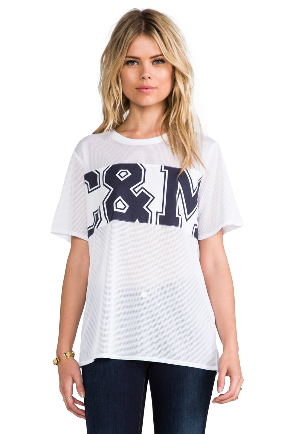 camilla and marc camilla & marc C&M Into the Blue Mesh Logo Tee
