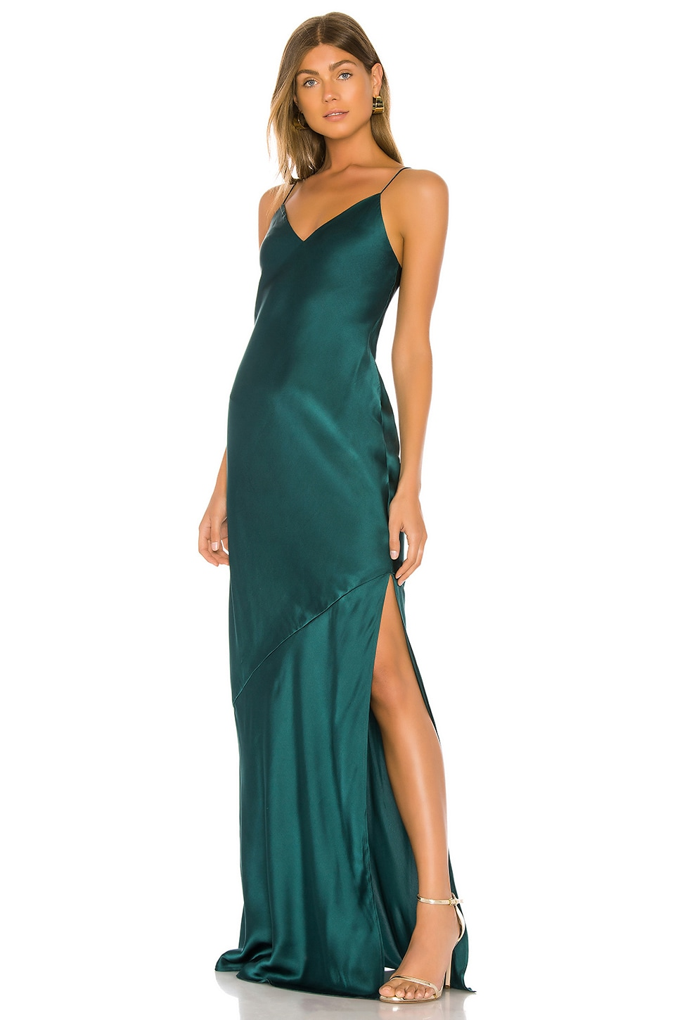 CAMI NYC The Raven Gown in Deep Sea