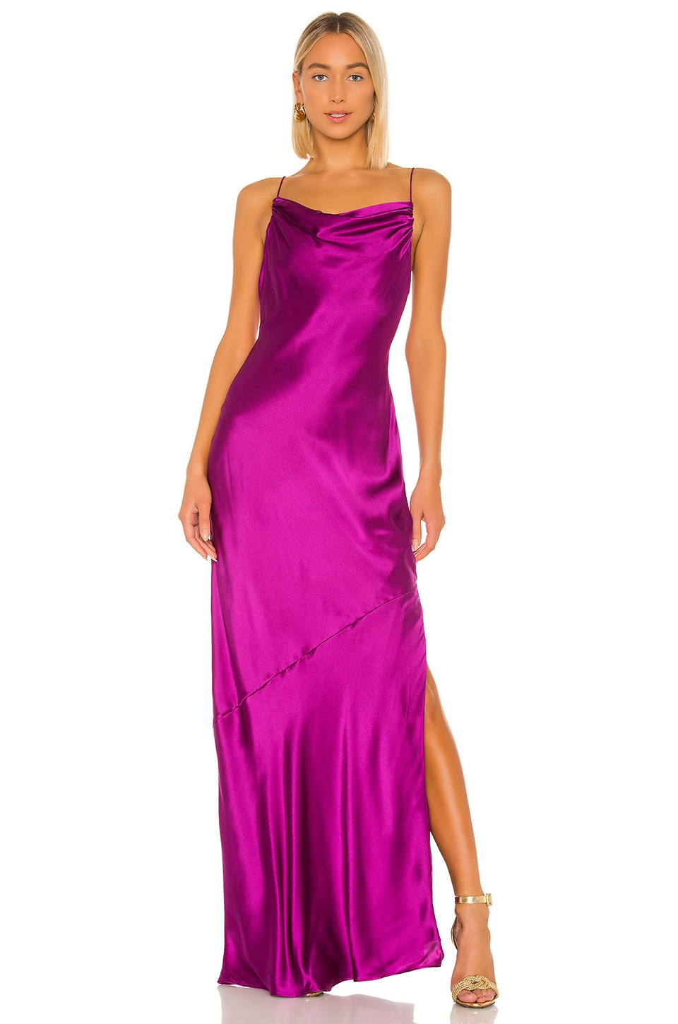 CAMI NYC The Carla Gown in Dragonfruit