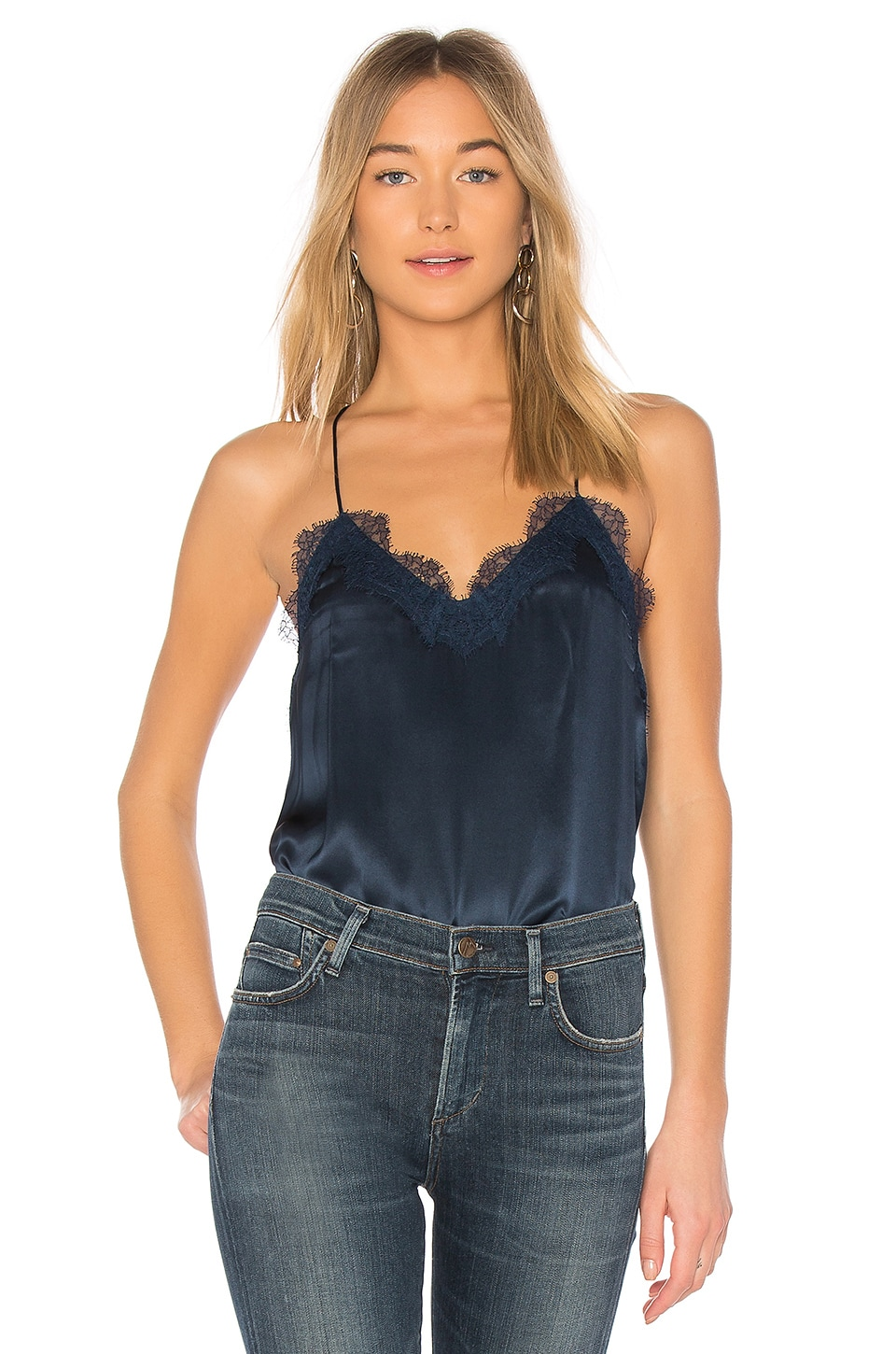 CAMI NYC The Racer Cami in Navy