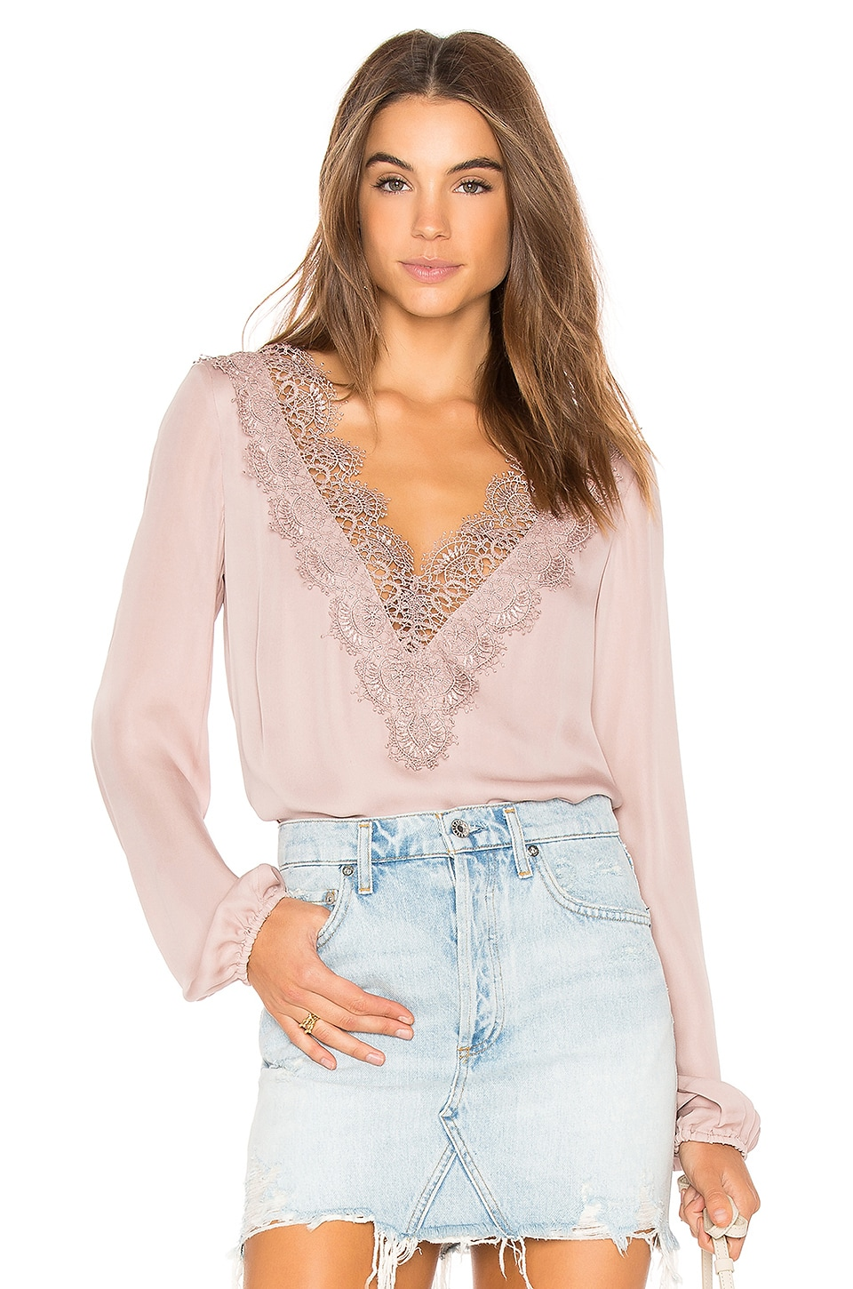 CAMI NYC The Alannah Blouse in Oyster