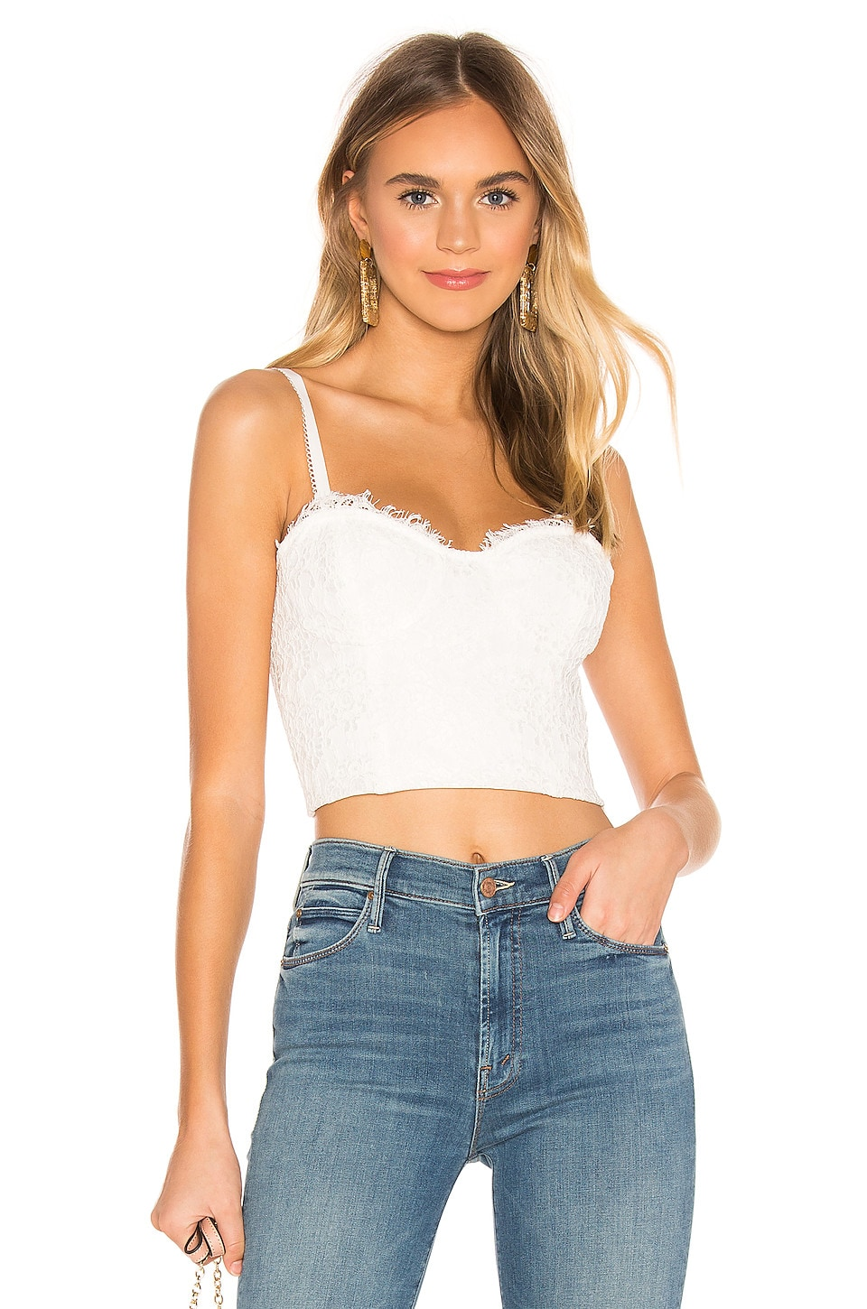 CAMI NYC The Scarlett Crop Top en White