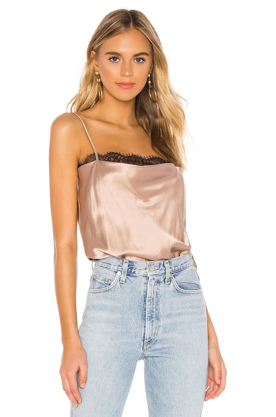 CAMI NYC The Rosie Bodysuit in Rose Dust