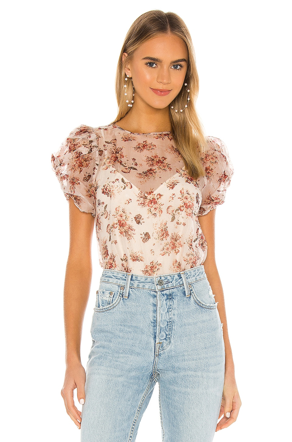 CAMI NYC The Louisa Blouse in Vintage Flora
