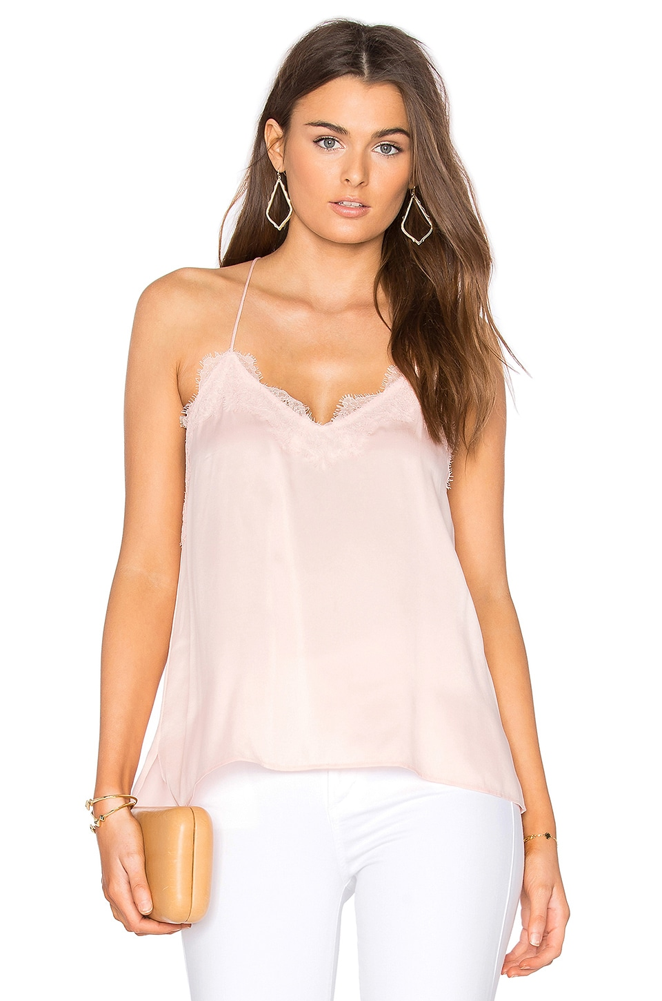 CAMI NYC Racer Cami in Light Rose