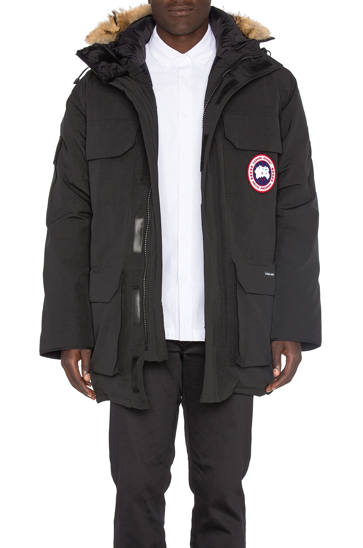 Canada Goose' Men's Carson Fur-Trimmed Parka - Navy - Size L
