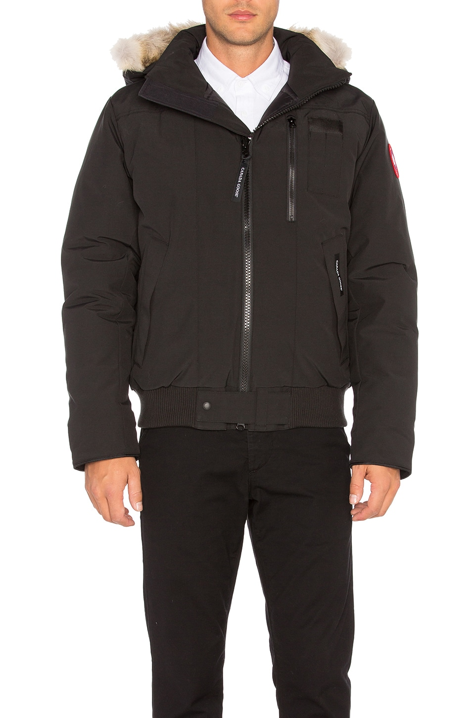 Borden Coyote Fur Trim Bomber by Canada Goose