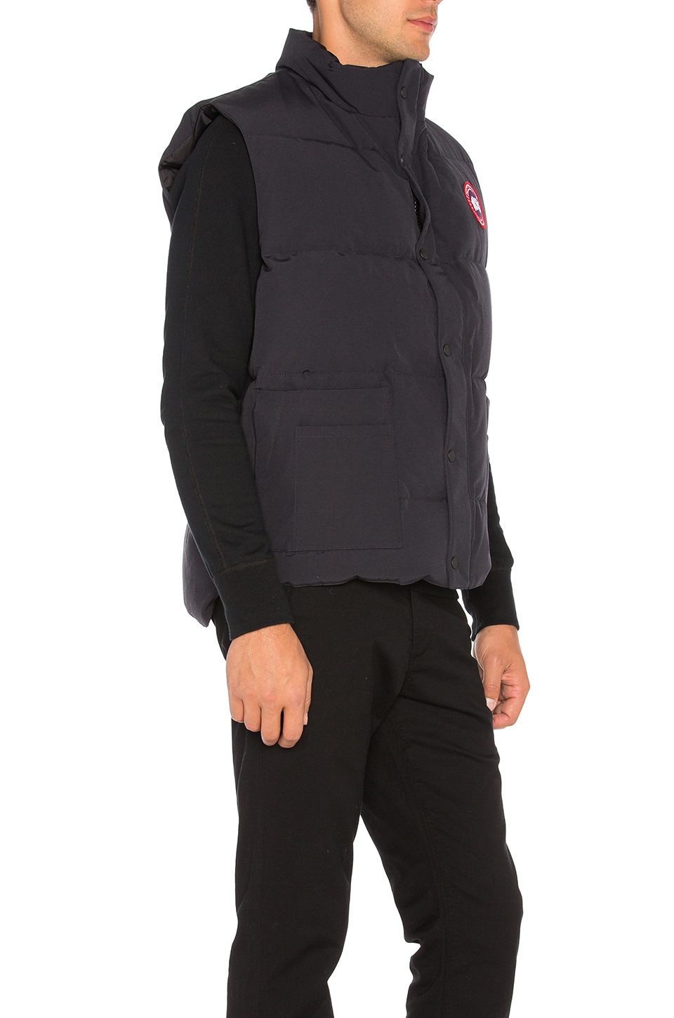 Canada Goose parka outlet official - Canada Goose Freestyle Vest in Navy | REVOLVE