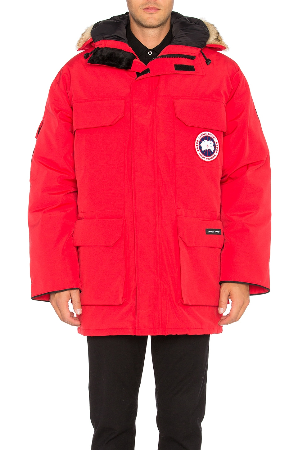 Canada Goose' ladies expedition parka red