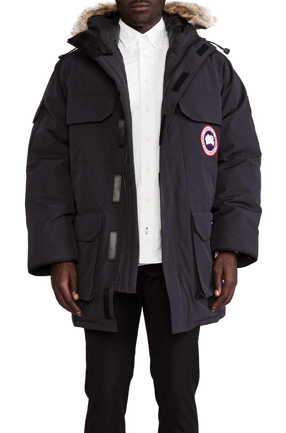 Canada Goose down outlet fake - Canada Goose Expedition Coyote Fur Trim Parka in Graphite | REVOLVE