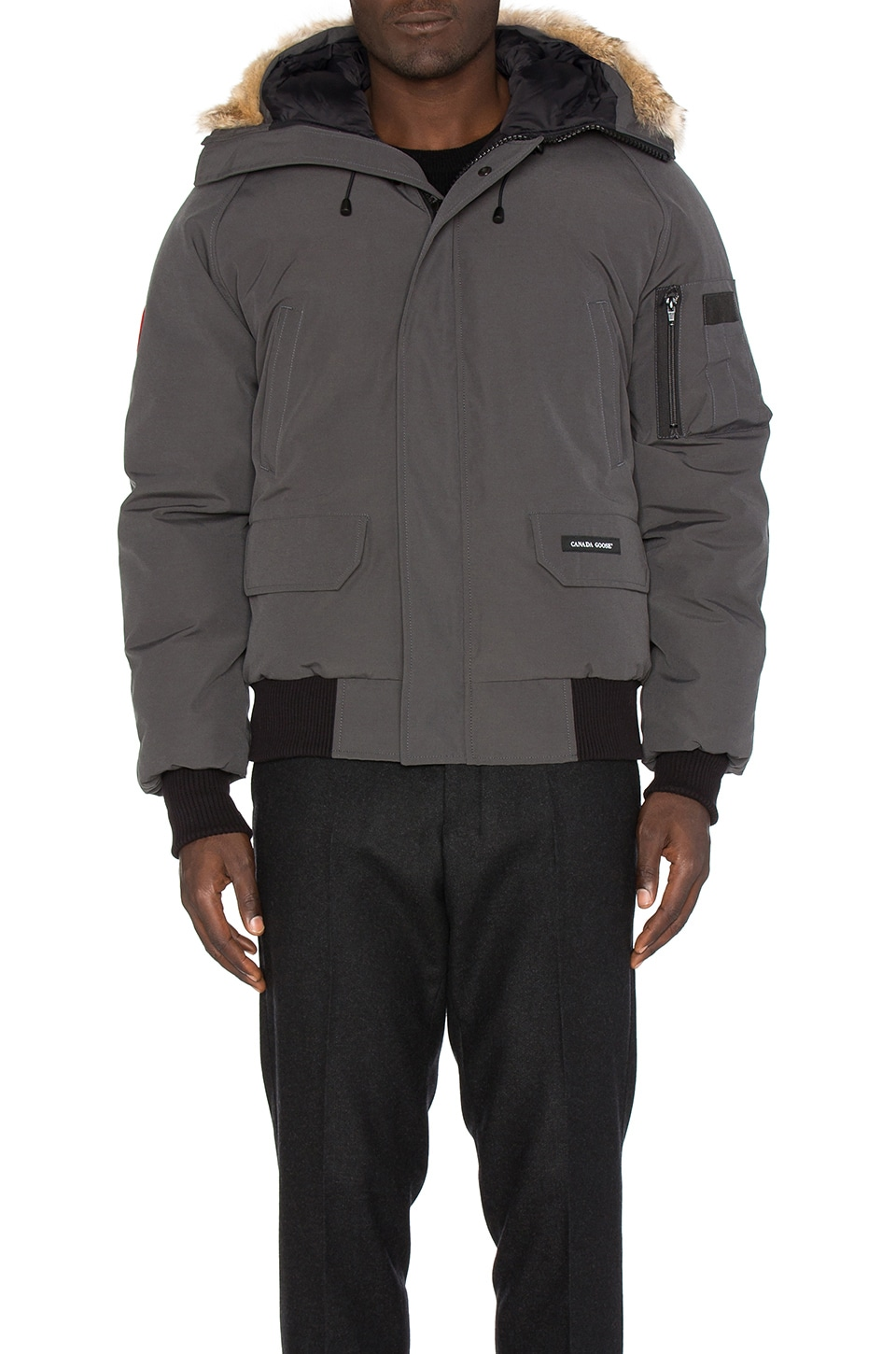 Chilliwack Coyote Fur Trim Bomber by Canada Goose