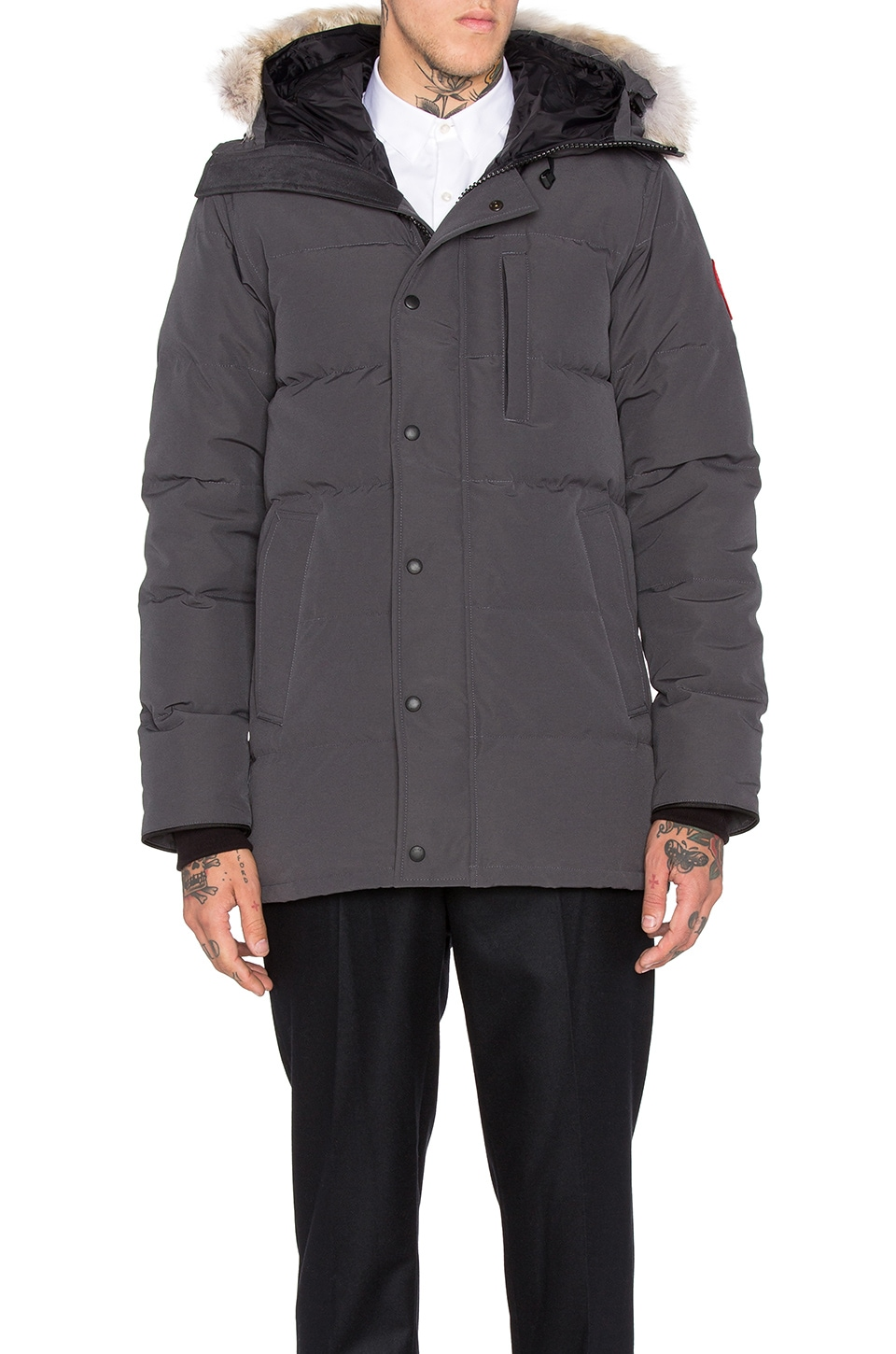 Photo of Carson Coyote Fur Trim Parka by Canada Goose men clothes