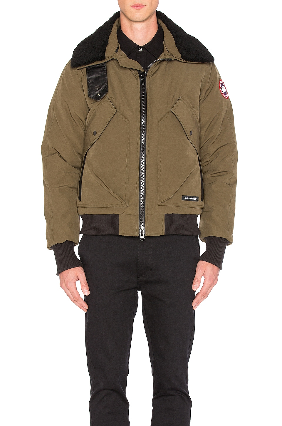 Bromley Shearling Collar Bomber by Canada Goose