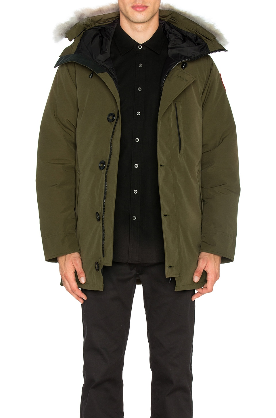 Chateau Coyote Fur Trim Parka by Canada Goose