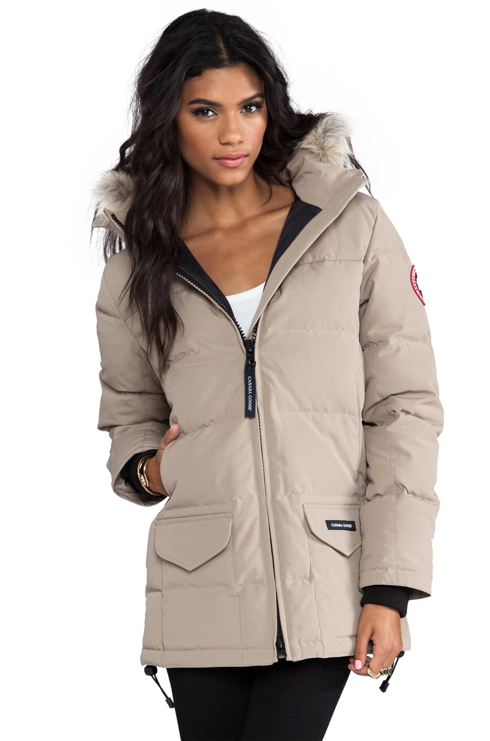 Canada Goose jackets online authentic - Canada Goose Solaris Parka with Coyote Fur in Tan | REVOLVE