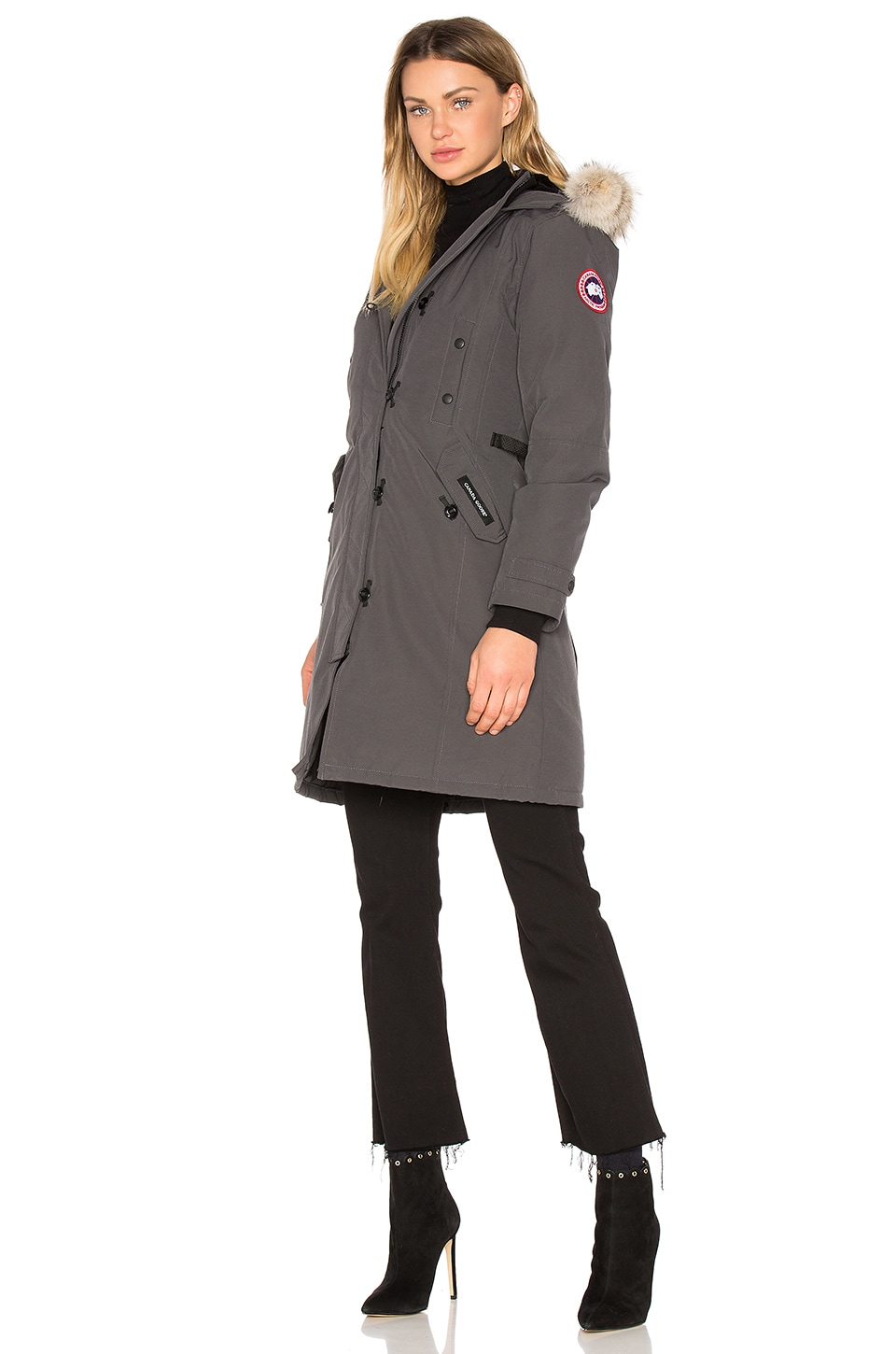Canada Goose chilliwack parka sale store - Canada Goose Kensington Parka with Coyote Fur Trim in Graphite ...