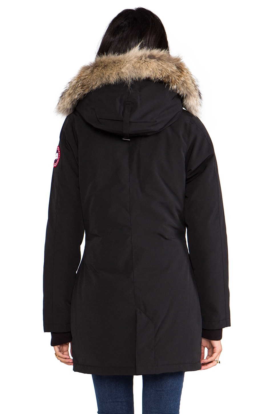 Canada Goose sale - Canada Goose Victoria Parka with Coyote Fur in Black | REVOLVE