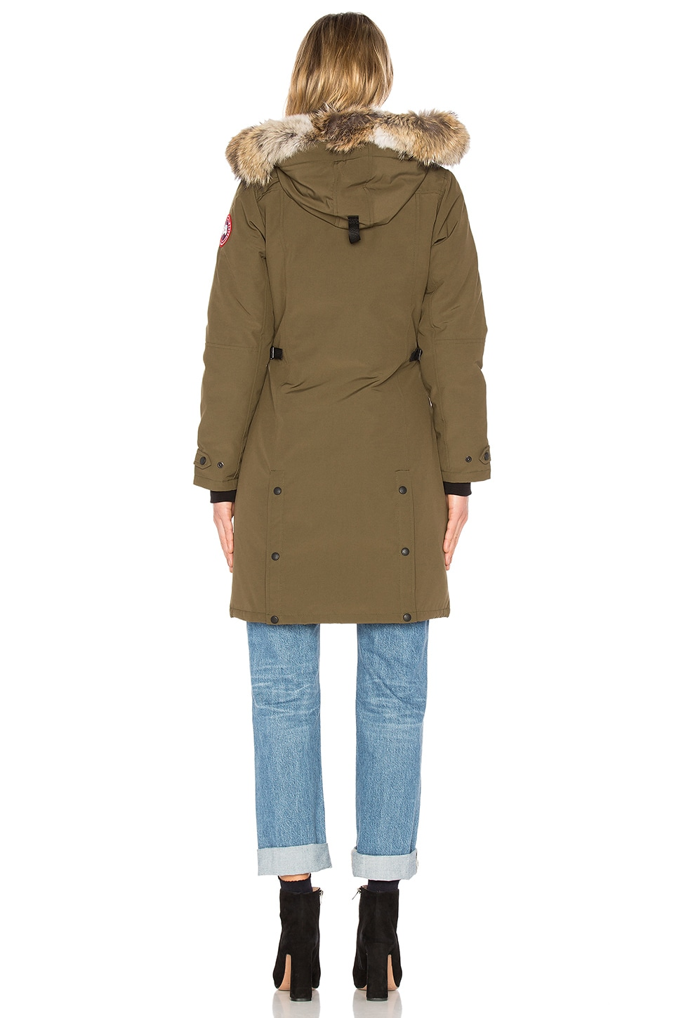 Canada Goose womens sale authentic - Canada Goose Kensington Parka with Coyote Fur Trim in Military ...