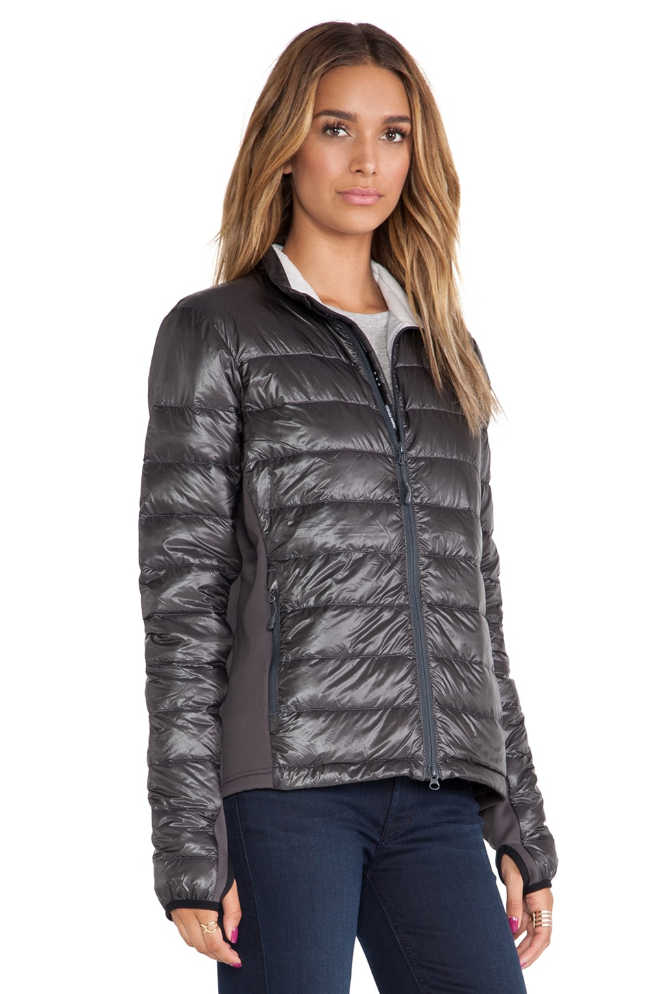 Canada Goose coats outlet 2016 - Canada Goose Hybridge Lite Jacket in Graphite | REVOLVE