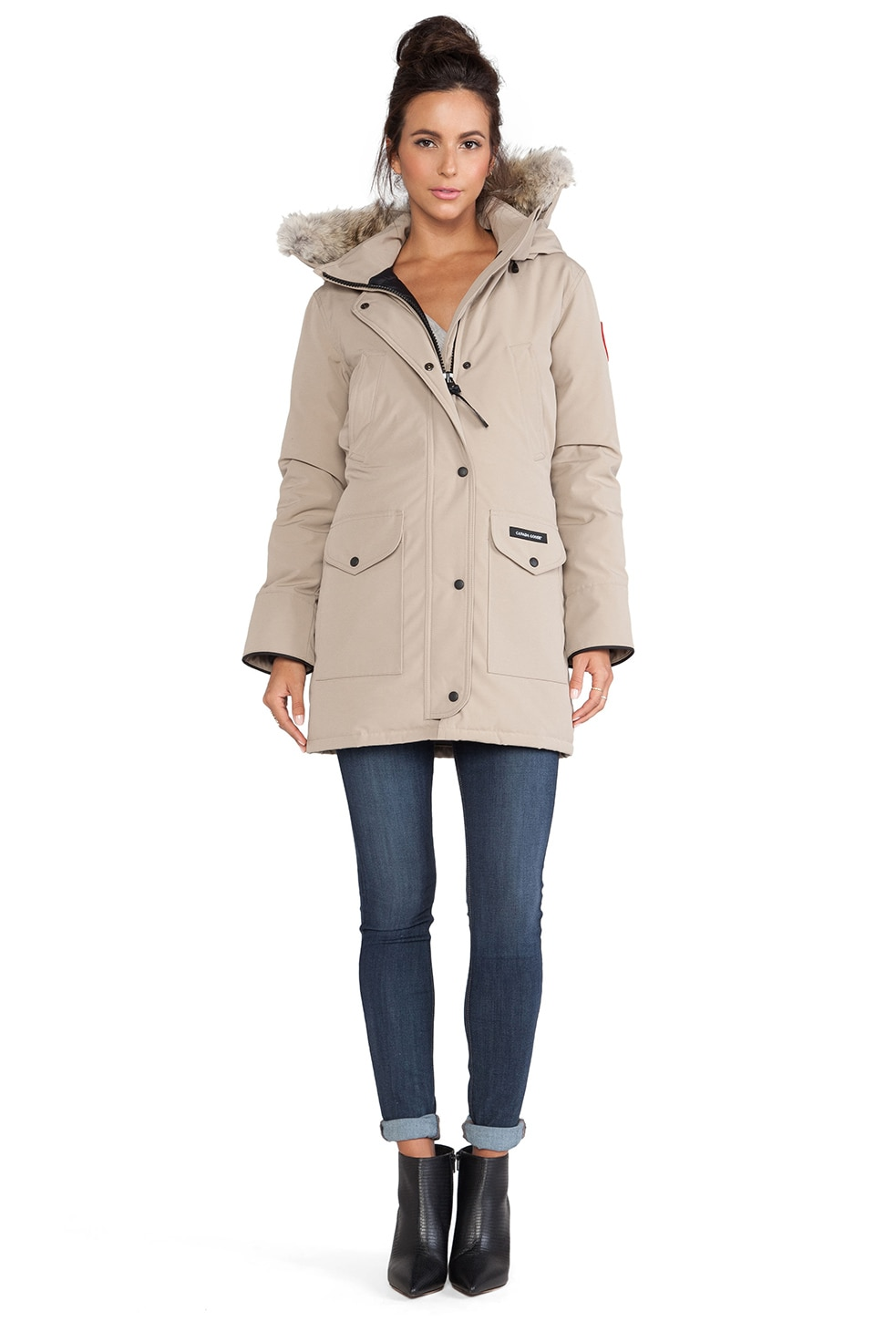 Canada Goose montebello parka replica price - Canada Goose Trillium Parka with Coyote Fur Trim in Tan | REVOLVE
