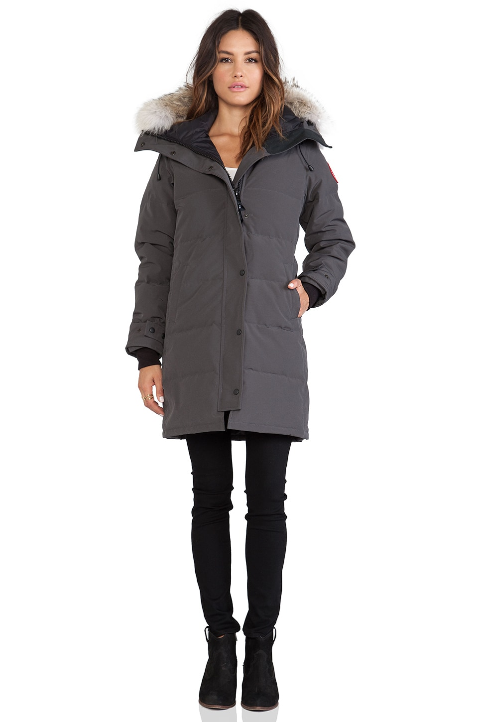 Canada Goose coats outlet cheap - Canada Goose Shelburne Parka with Coyote Fur Trim in Graphite ...