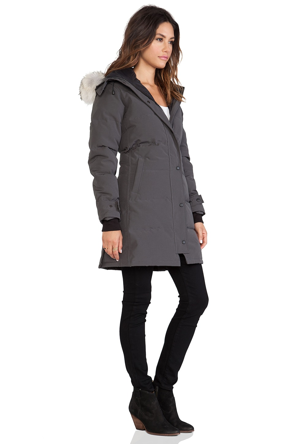 Canada Goose toronto sale authentic - Canada Goose Shelburne Parka with Coyote Fur Trim in Graphite ...