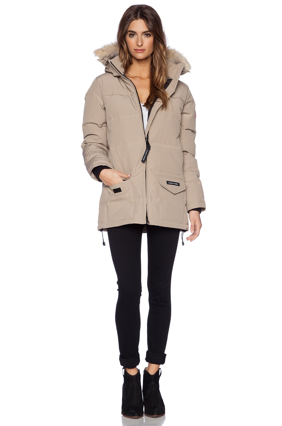 Canada Goose chilliwack parka online discounts - Canada Goose Solaris Parka with Coyote Fur Trim in Tan | REVOLVE