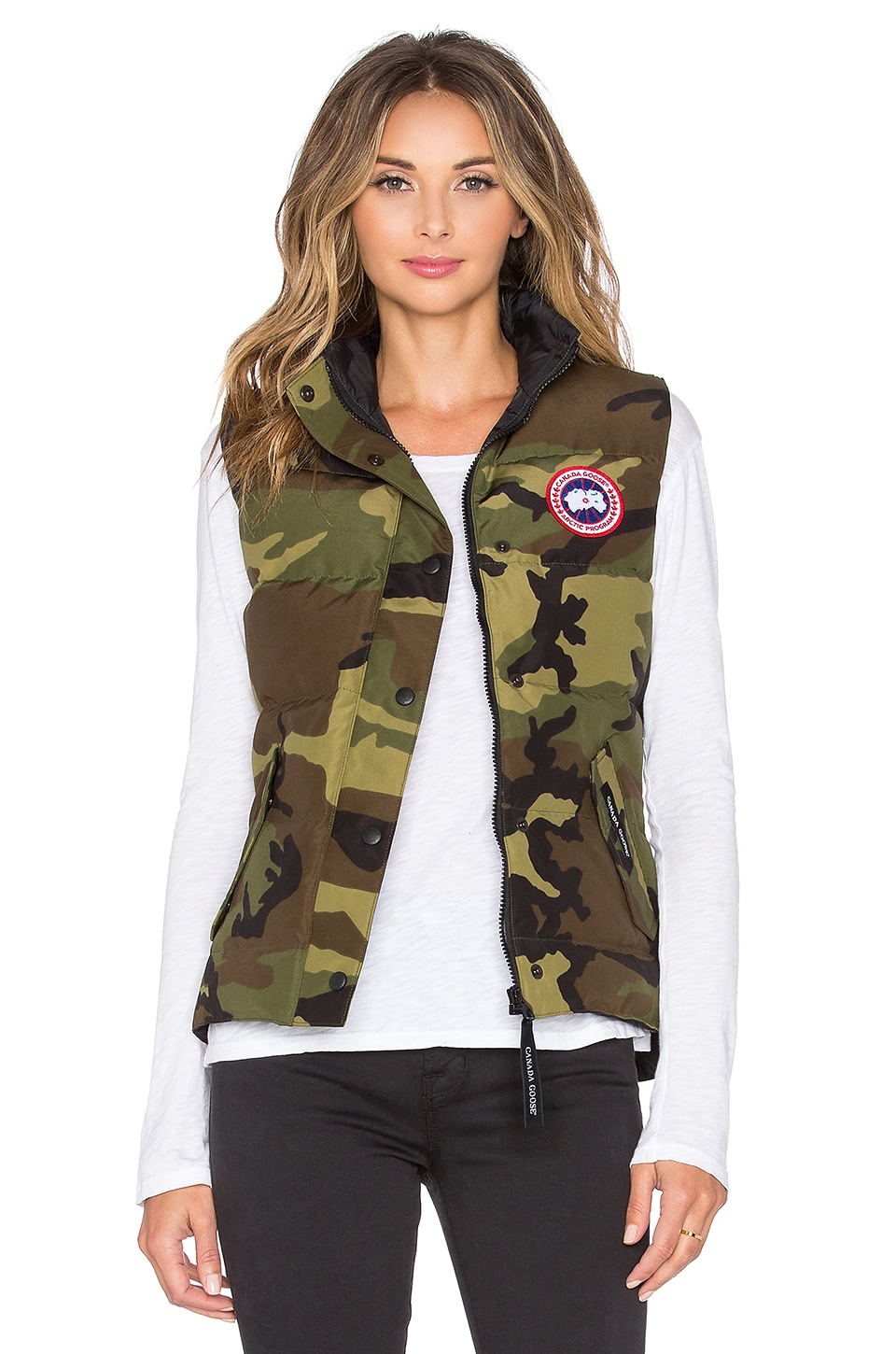 Canada Goose' shop with a cop