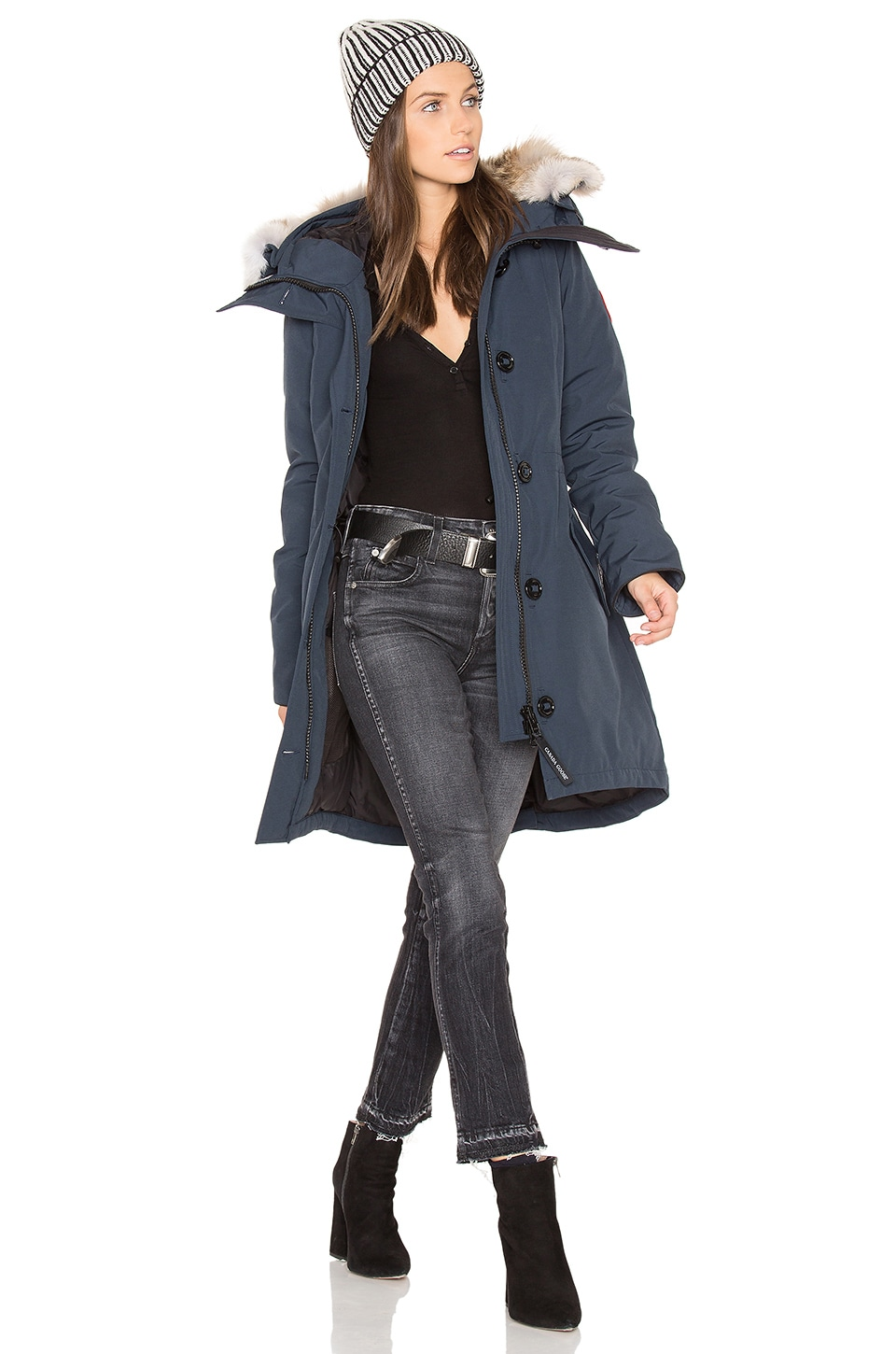 Rossclair Parka with Coyote Fur Trim by Canada Goose