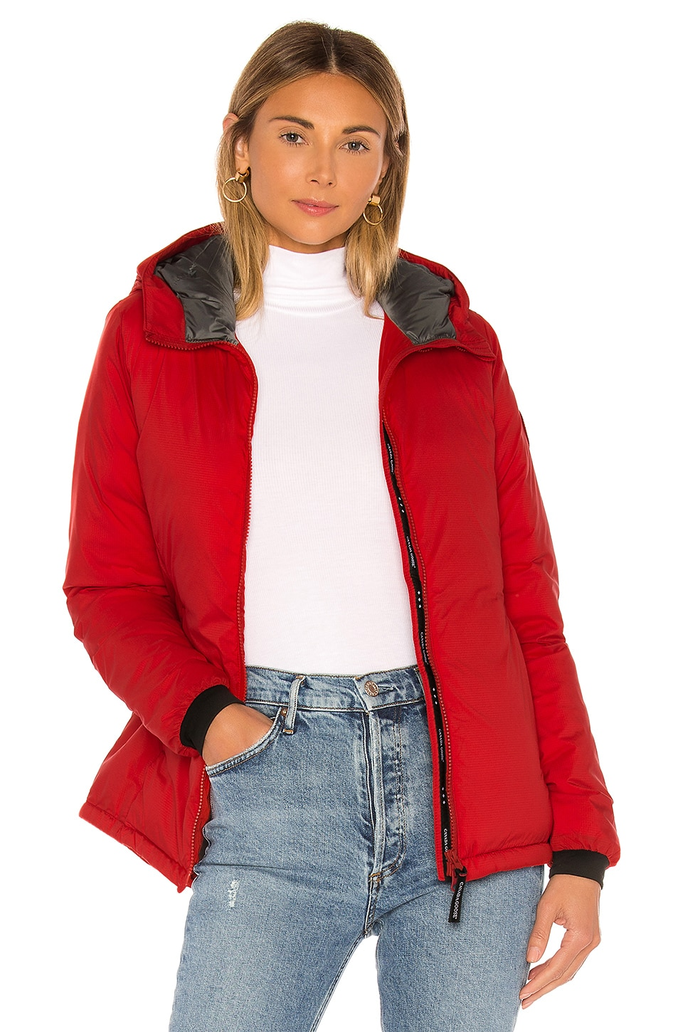 Canada Goose Camp Hoody Jacket in Red