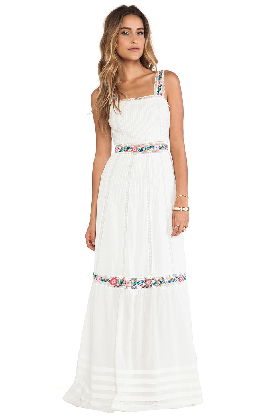 Candela Lady Dress in Off White