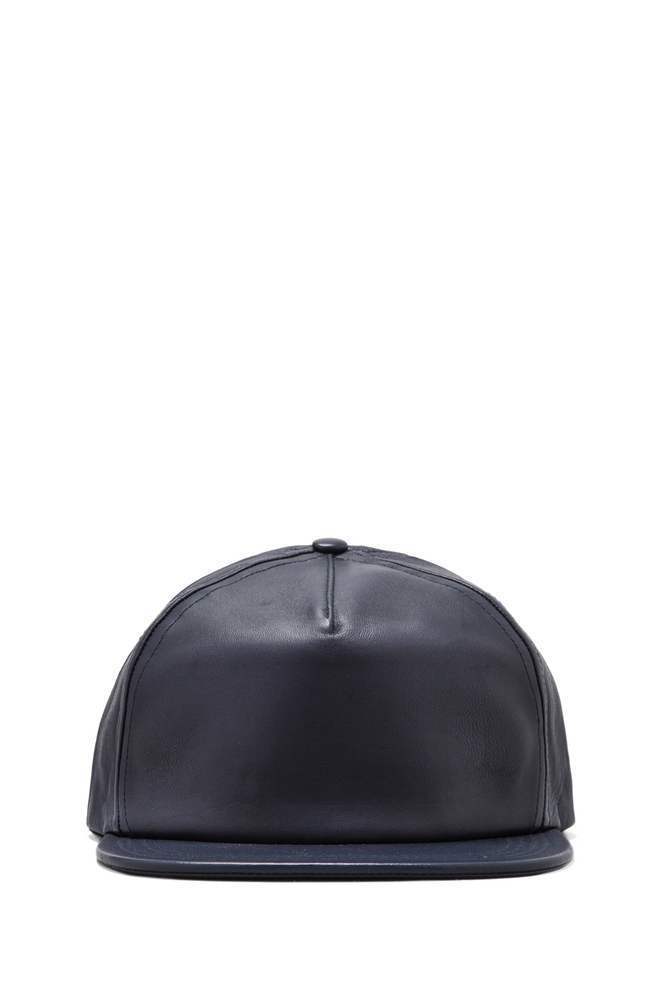 Cast of Vices Lambskin Leather Hat in Navy