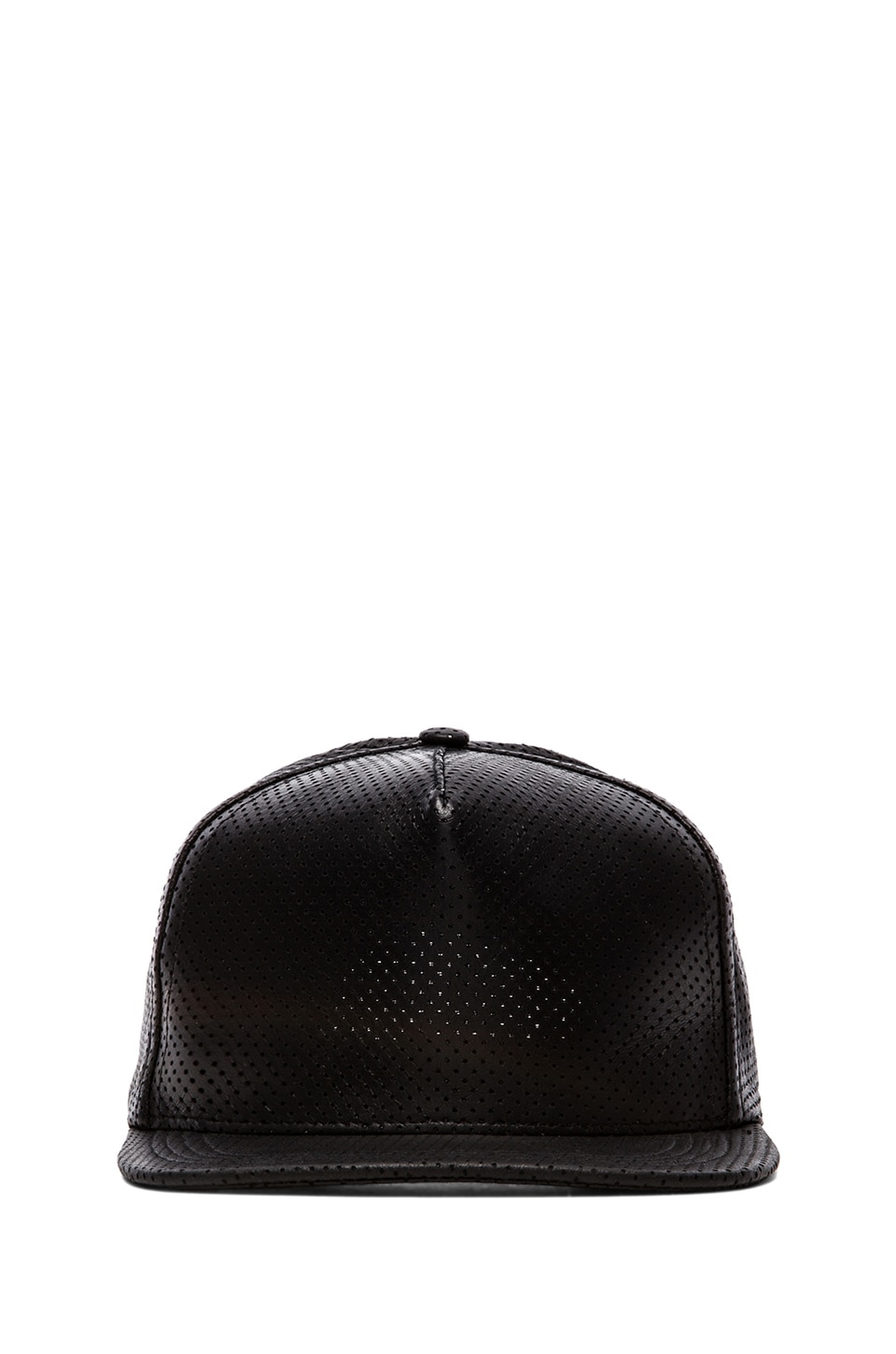 Cast of Vices Leather Hat in Black Perforated
